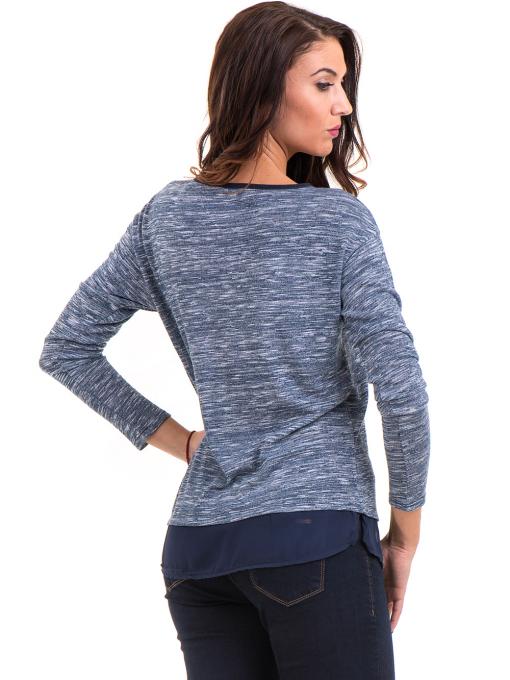 Дамска блуза с овално деколте XINT 118 - синя B