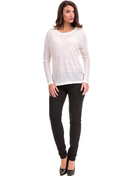 Дамски панталон LACARINO 4189 - черен C2