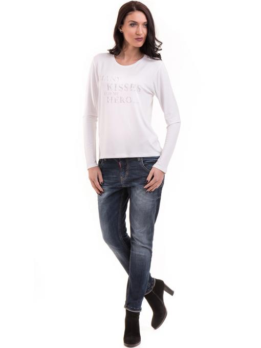 Дамска блуза с щампа XINT 142 - бяла C