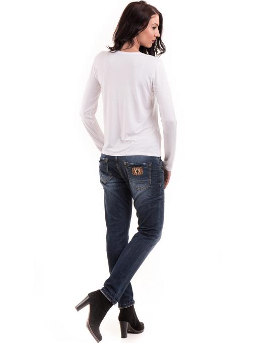 Дамска блуза с щампа XINT 142 - бяла E