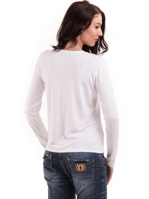 Дамска блуза с щампа XINT 142 - бяла B