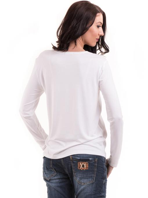 Дамска блуза с надпис XINT 146 - бяла B