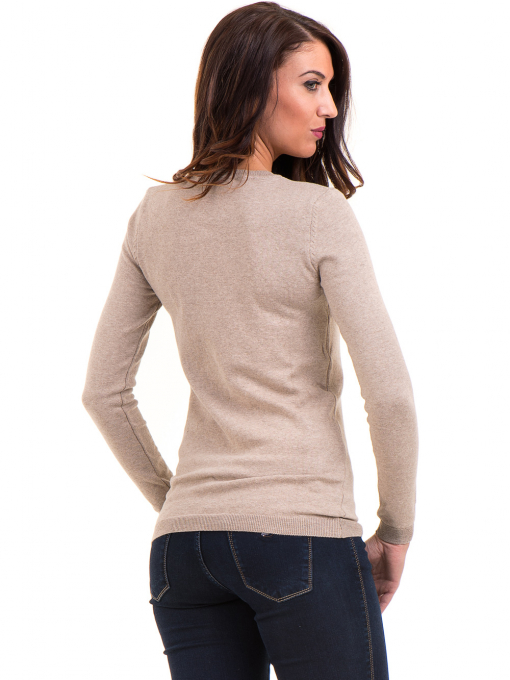 Дамска блуза с обло деколте XINT 148 - бежова B