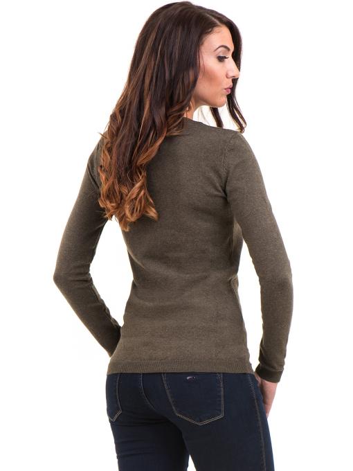 Дамска блуза с обло деколте XINT 148 - цвят каки B