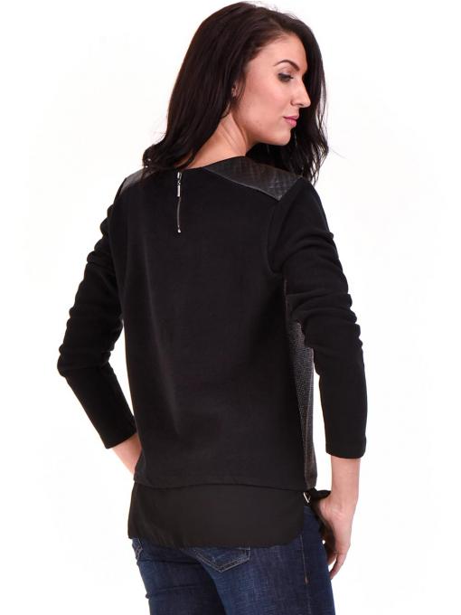 Дамска блуза свободен модел XINT 148A - черна B