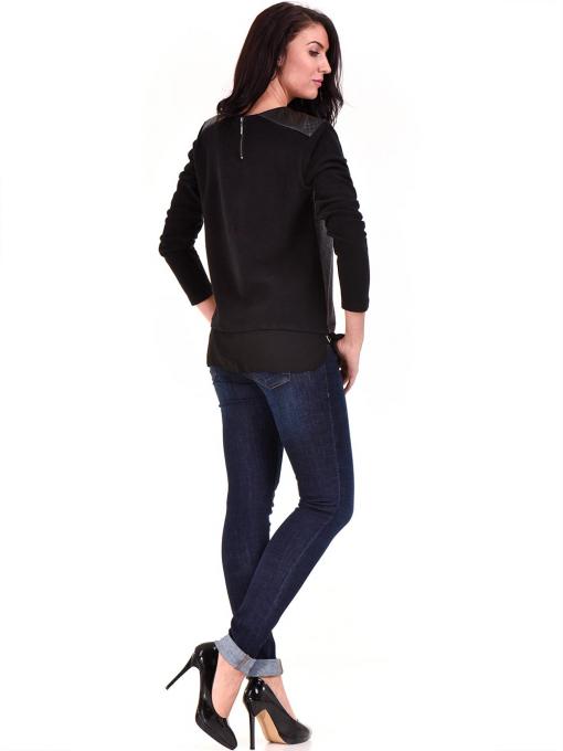 Дамска блуза свободен модел XINT 148A - черна E