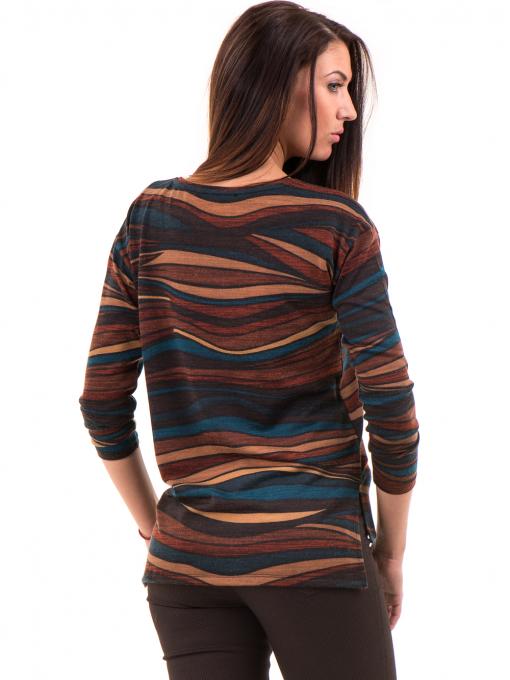Дамска блуза XINT с овално деколте 162 - кафява B