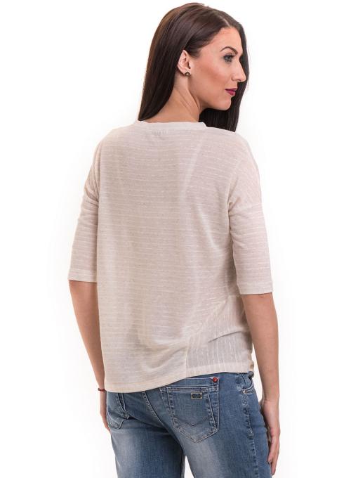 Дамска блуза свободен модел XINT 200 - светло бежова B