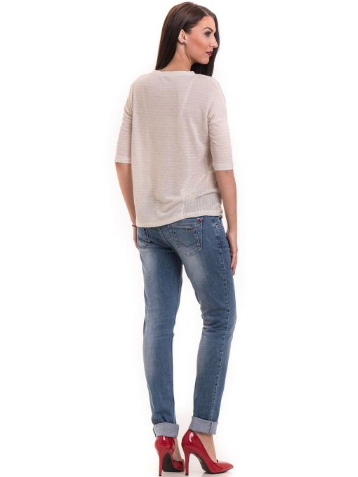 Дамска блуза свободен модел XINT 200 - светло бежова E
