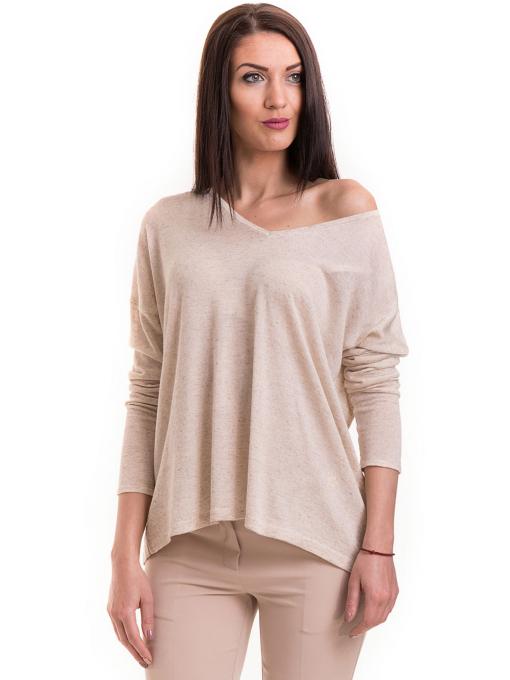Дамска блуза свободен модел XINT 301- светло бежова