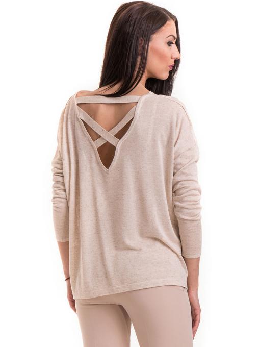 Дамска блуза свободен модел XINT 301- светло бежова B