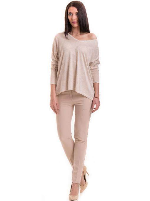 Дамска блуза свободен модел XINT 301- светло бежова C