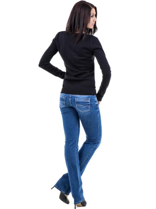 Дамска блуза с овално деколте XINT 462 - черна E
