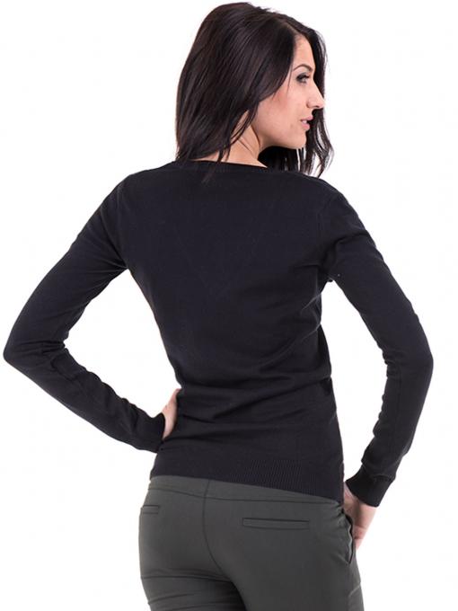 Дамска блуза с V-образно деколте XINT 464 - черна B