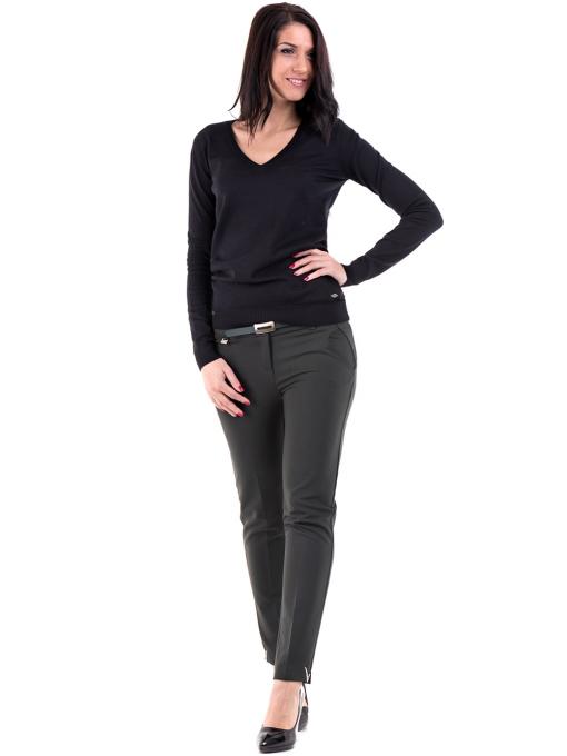 Дамска блуза с V-образно деколте XINT 464 - черна C