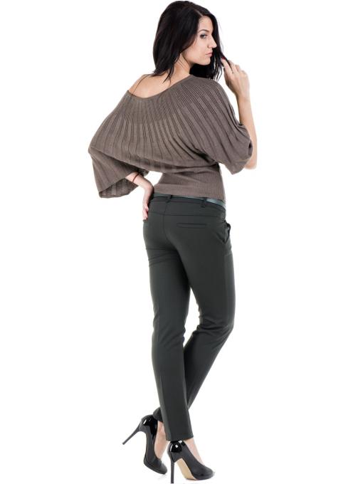 Дамска блуза XINT с 3/4-ти прилеп ръкав 661- цвят кафяв E