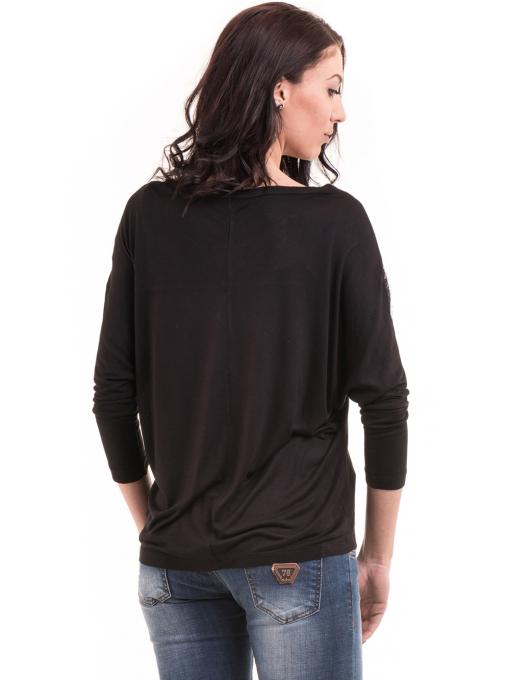 Дамска блуза с прилеп ръкав XINT 685 - черна B