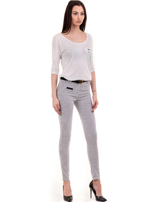 Дамска блуза XINT свободен модел 728 - бяла C