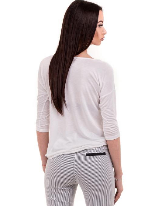 Дамска блуза XINT свободен модел 728 - бяла B