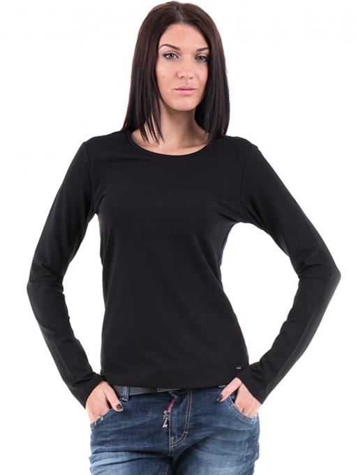 Дамска вталена блуза XINT 852 - черна