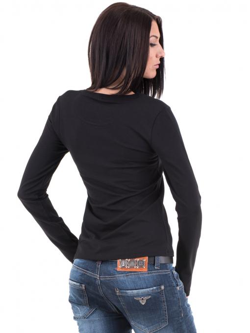 Дамска вталена блуза XINT 852 - черна B