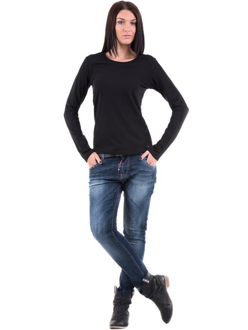 Дамска вталена блуза XINT 852 - черна C