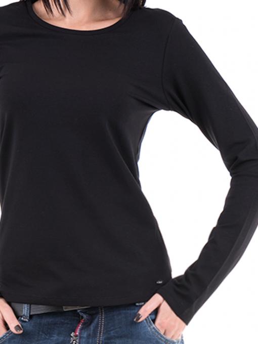 Дамска вталена блуза XINT 852 - черна D