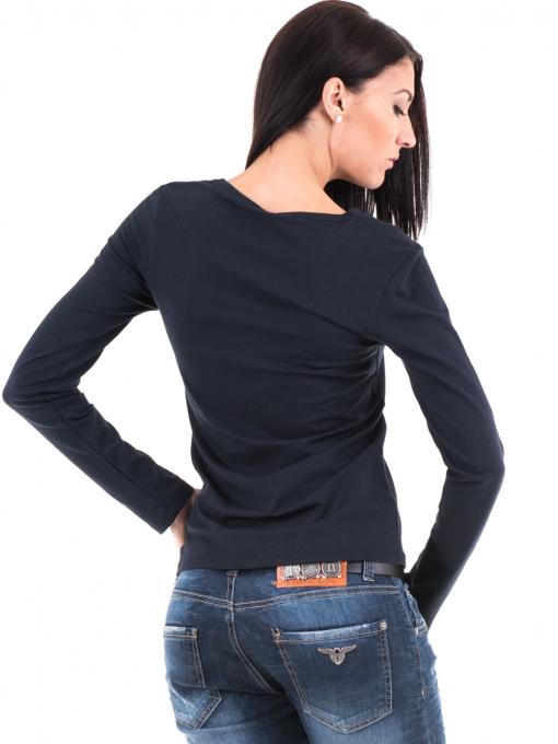 Дамска вталена блуза XINT 852 - тъмно синя B