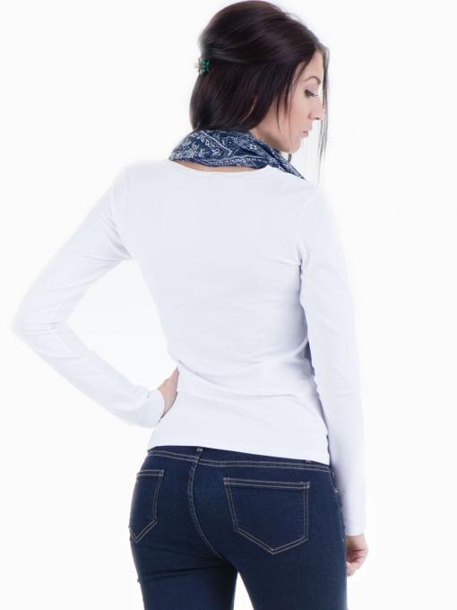 Дамска вталена блуза XINT 852 - бяла B