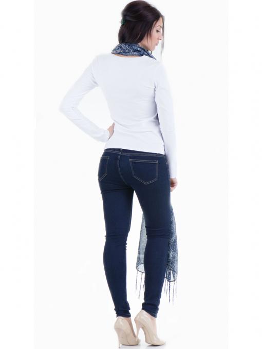 Дамска вталена блуза XINT 852 - бяла E