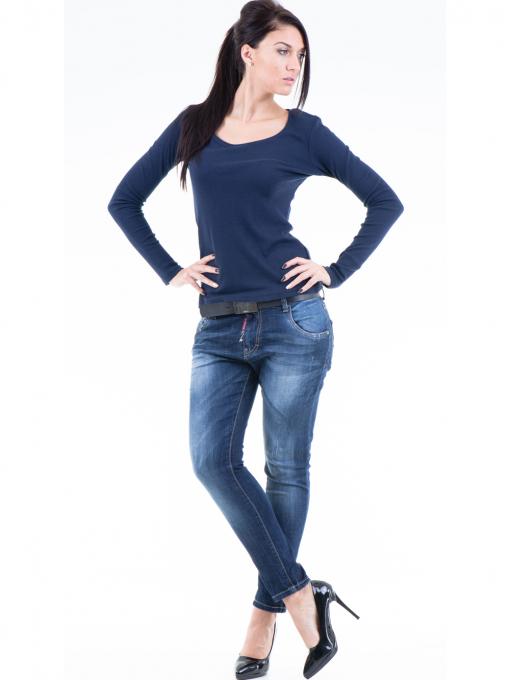 Дамска блуза с овално деколте XINT853 - цвят тъмно син C