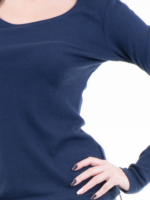 Дамска блуза с овално деколте XINT853 - цвят тъмно син D