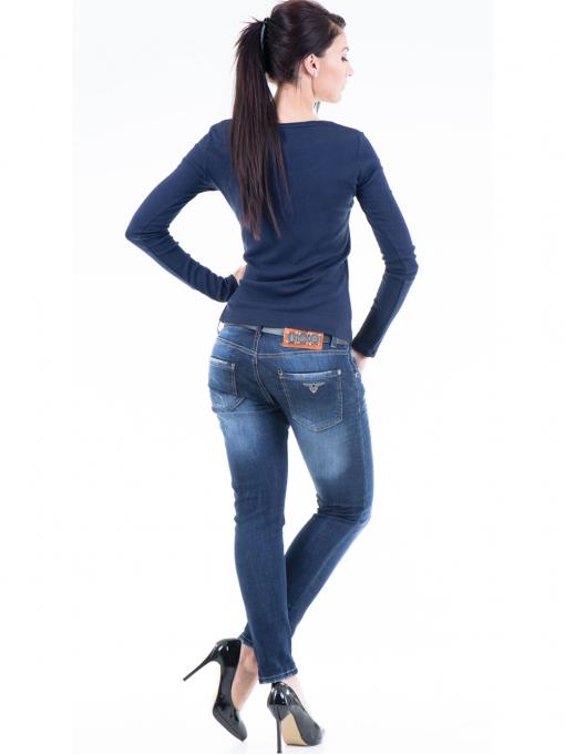 Дамска блуза с овално деколте XINT853 - цвят тъмно син E