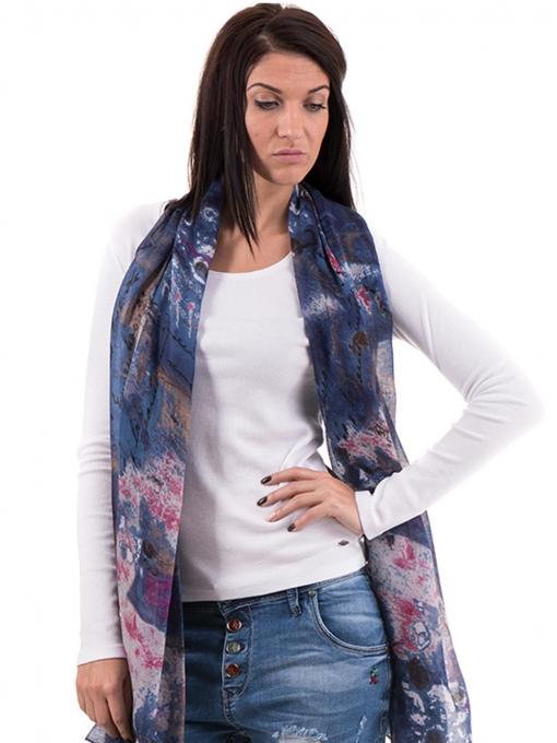 Дамска блуза с овално деколте XINT 853 - бяла