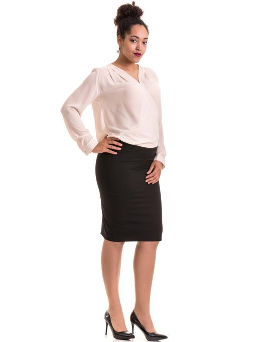 Елегантна дамска блуза ZANZI 06124 - цвят светло бежов C