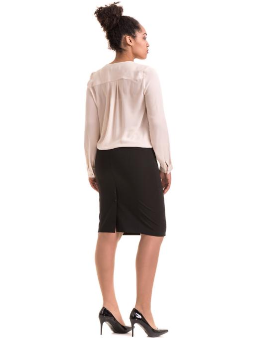 Елегантна дамска блуза ZANZI 06124 - цвят светло бежов E
