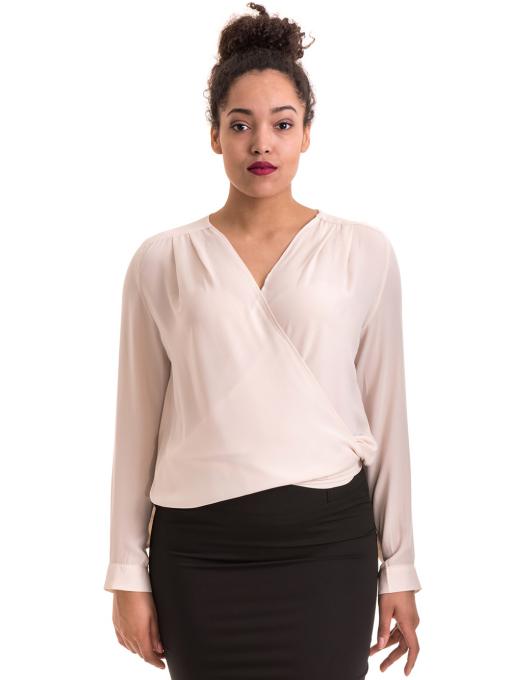 Елегантна дамска блуза ZANZI 06124 - цвят светло бежов