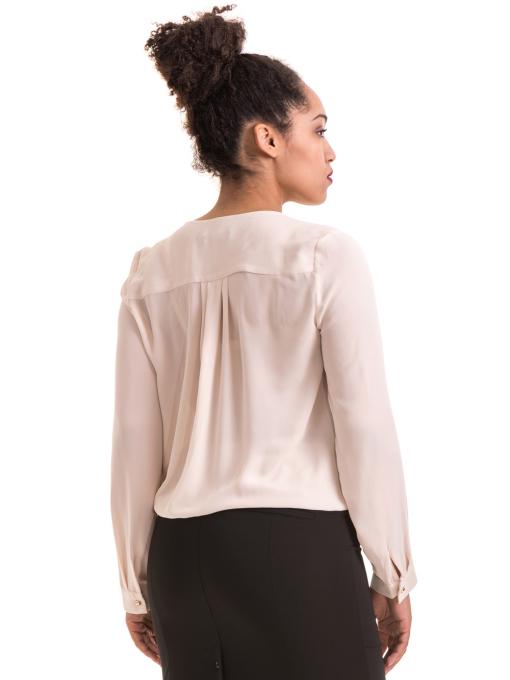 Елегантна дамска блуза ZANZI 06124 - цвят светло бежов B