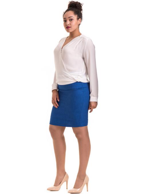 Елегантна дамска блуза ZANZI 06124 - бяла C