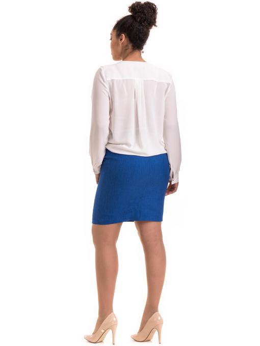 Елегантна дамска блуза ZANZI 06124 - бяла E