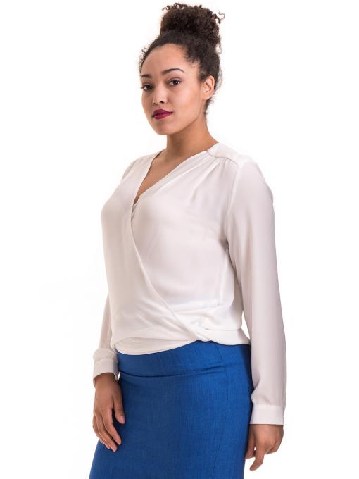 Елегантна дамска блуза ZANZI 06124 - бяла