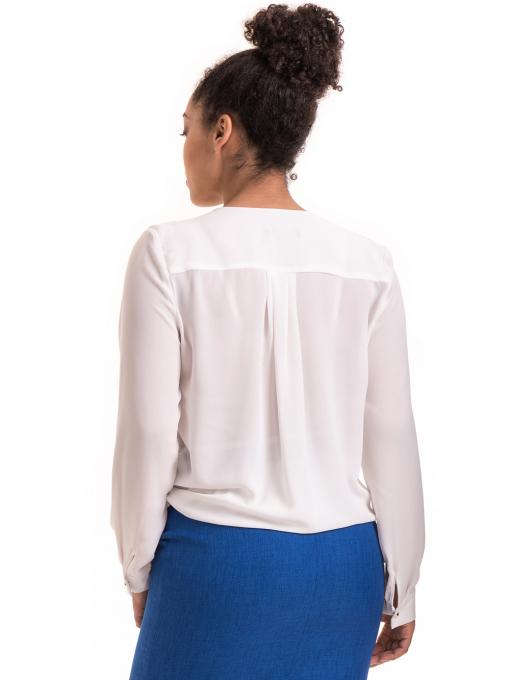 Елегантна дамска блуза ZANZI 06124 - бяла B
