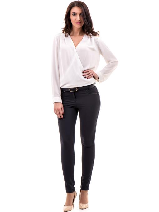 Елегантна дамска блуза ZANZI 16024 - бяла C