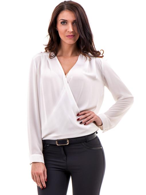 Елегантна дамска блуза ZANZI 16024 - бяла