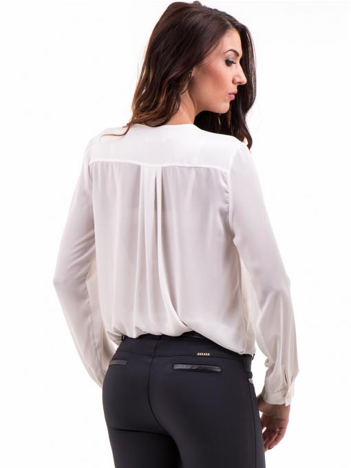 Елегантна дамска блуза ZANZI 16024 - бяла B