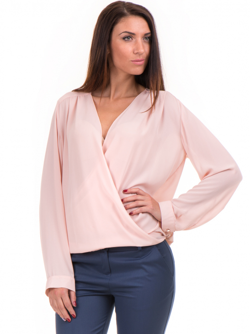 Елегантна дамска блуза ZANZI 16024 - розова