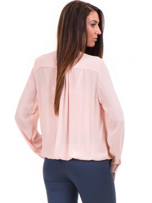 Елегантна дамска блуза ZANZI 16024 - розова B