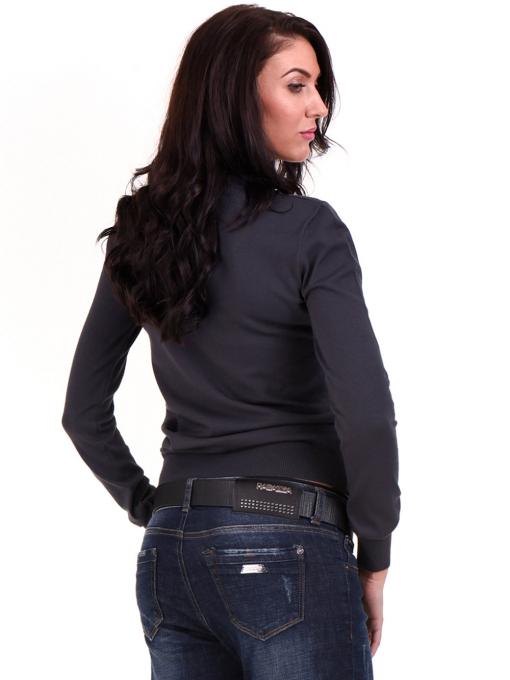 Дамска блуза  STAMINA с овално деколте 1302 - цвят антрацит B