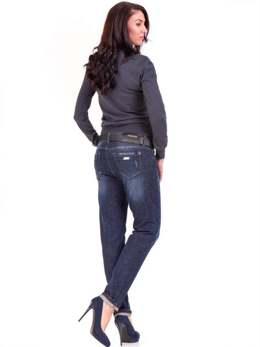 Дамска блуза  STAMINA с овално деколте 1302 - цвят антрацит E