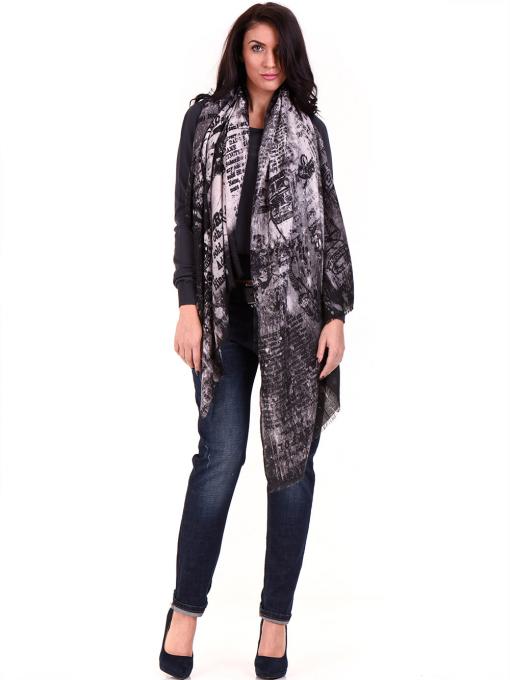 Дамска блуза  STAMINA с овално деколте 1302 - цвят антрацит C1